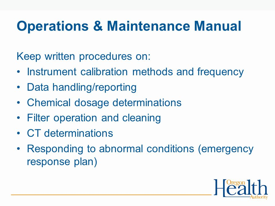 Operations & Maintenance Manual