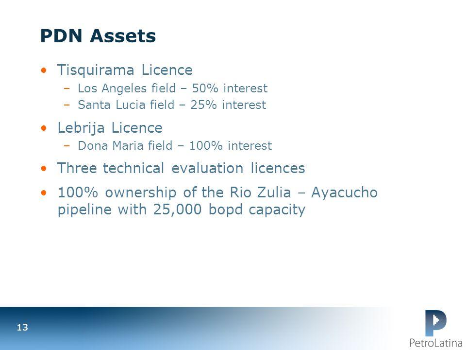 PDN Assets Tisquirama Licence Lebrija Licence