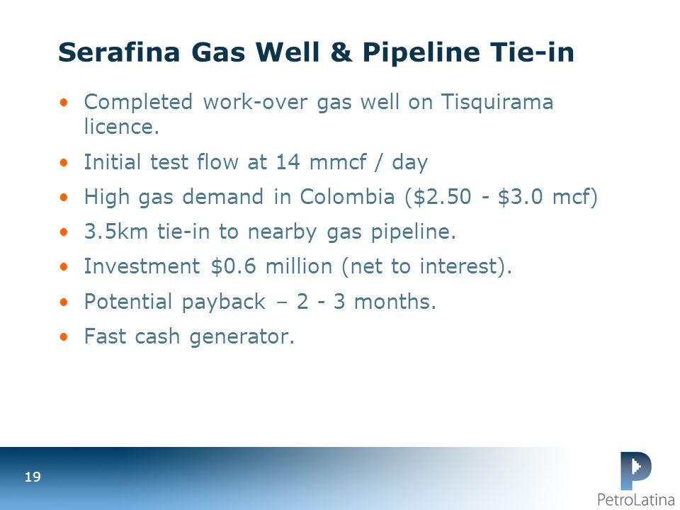 Serafina Gas Well & Pipeline Tie-in