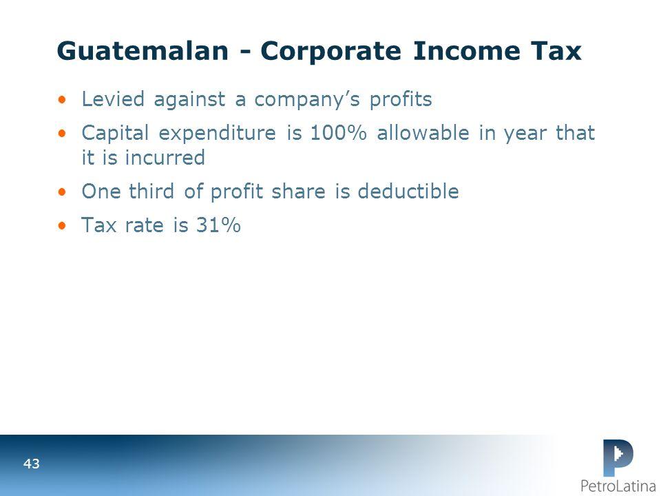 Guatemalan - Corporate Income Tax