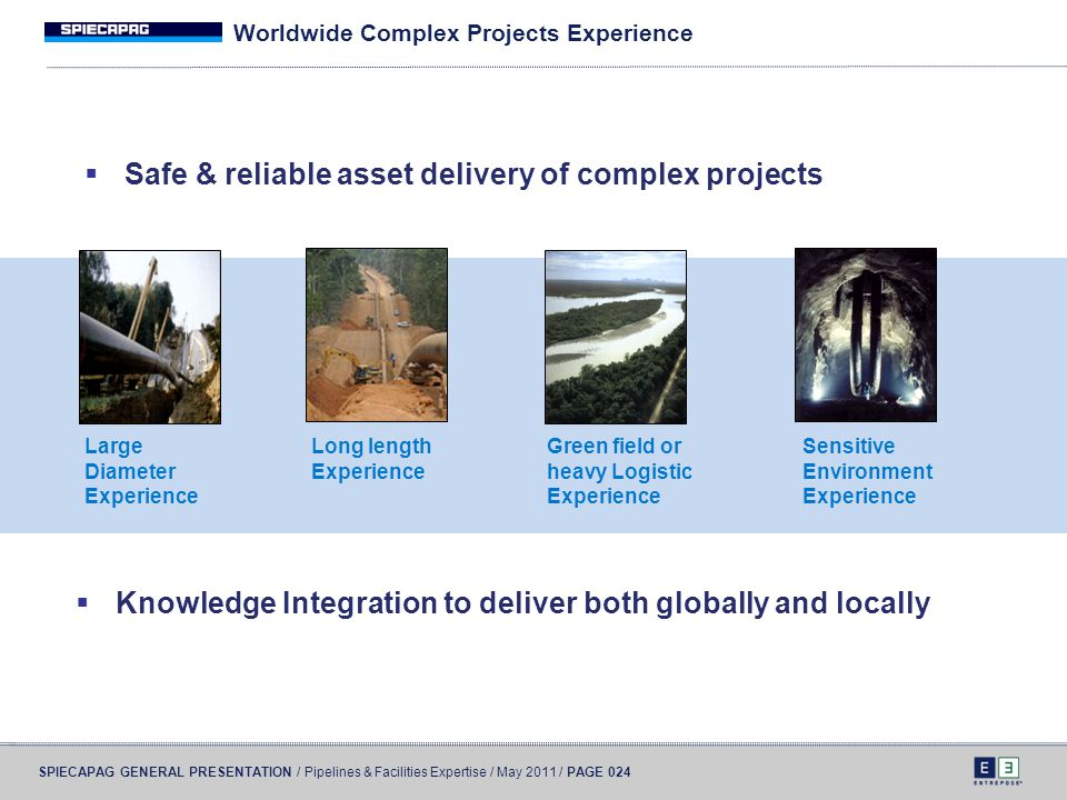 Worldwide Complex Projects Experience