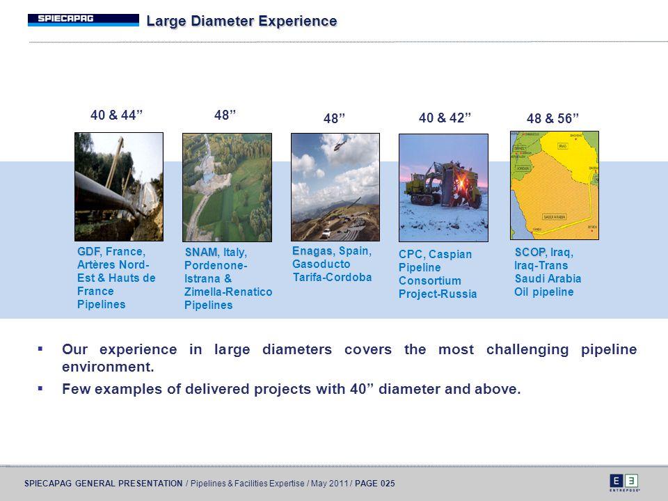 Large Diameter Experience