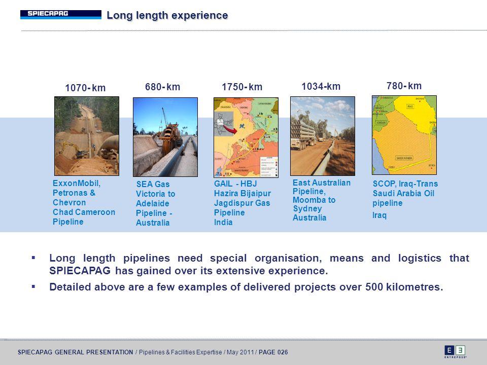 Long length experience