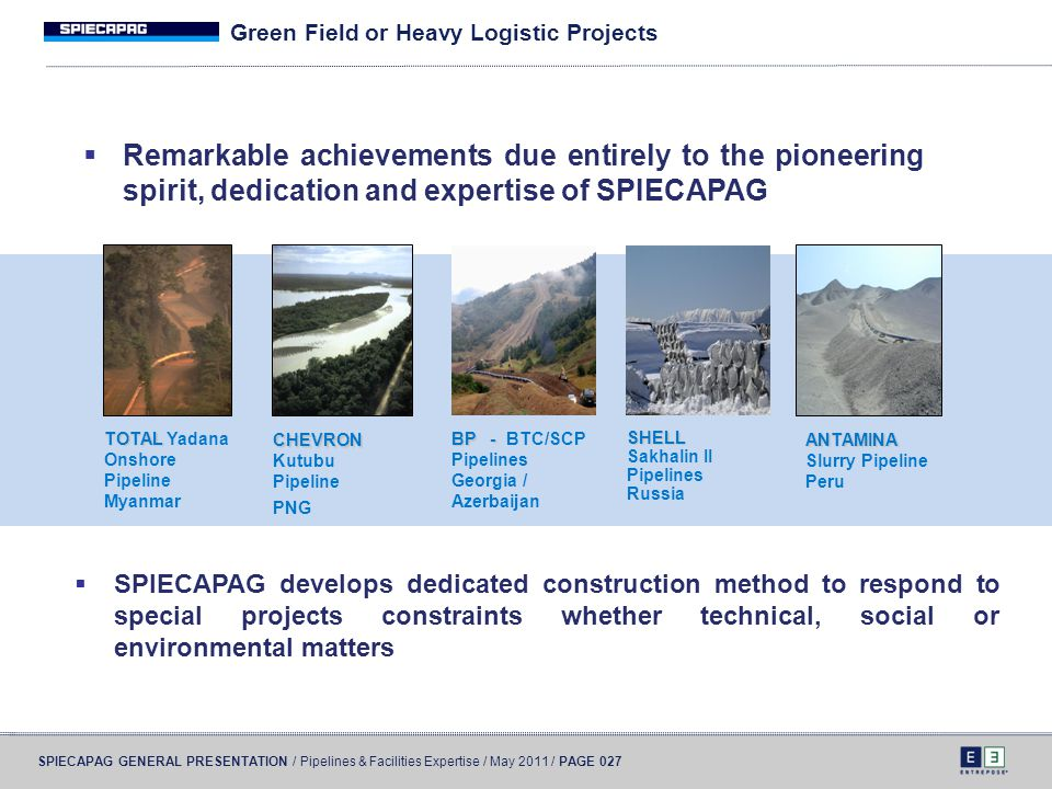Green Field or Heavy Logistic Projects