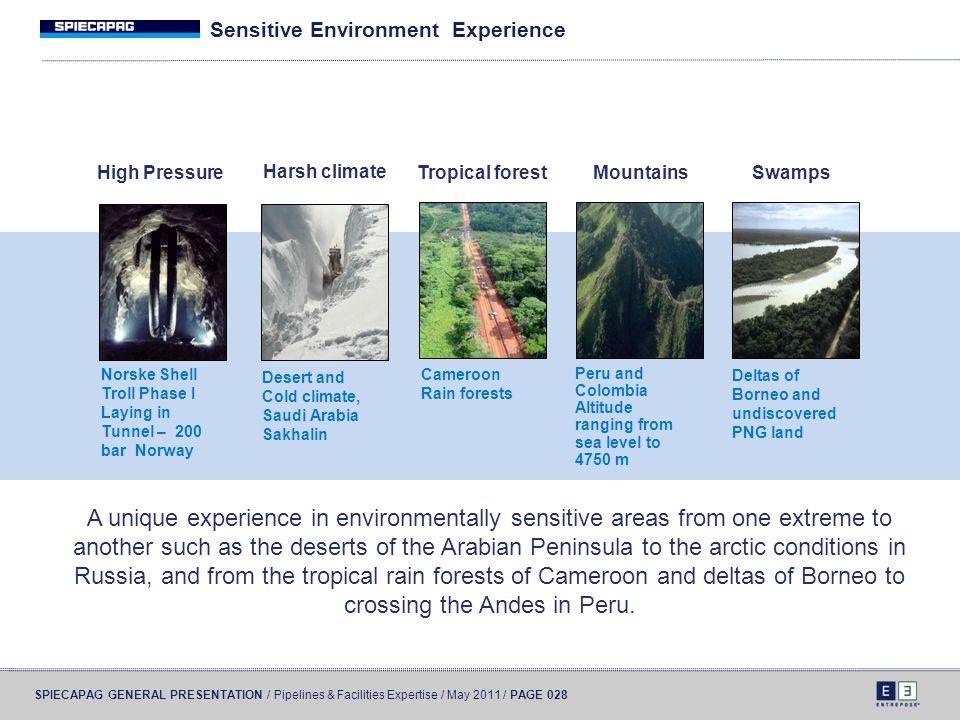 Sensitive Environment Experience