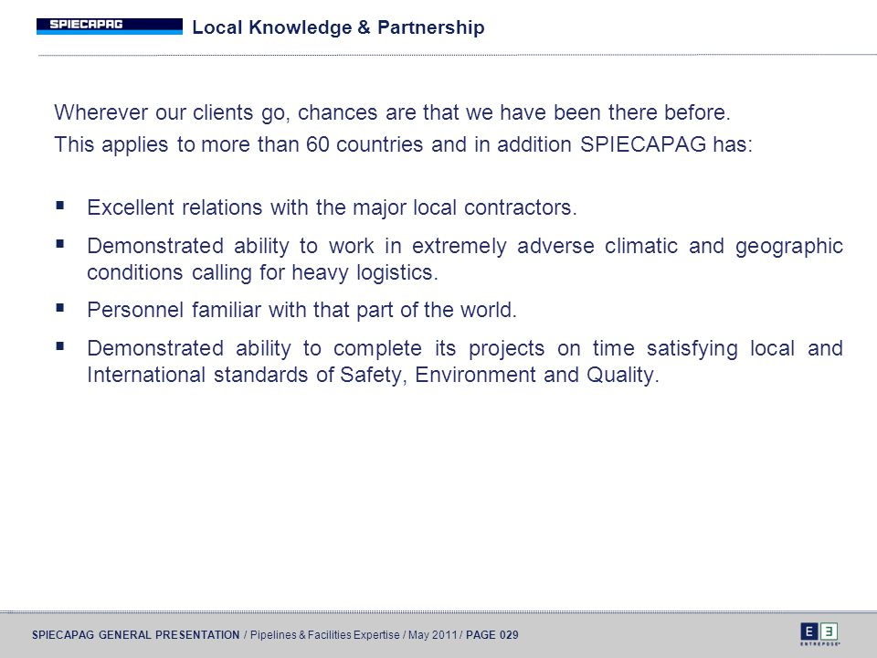 Local Knowledge & Partnership