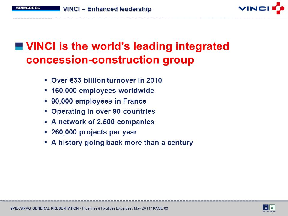 VINCI – Enhanced leadership