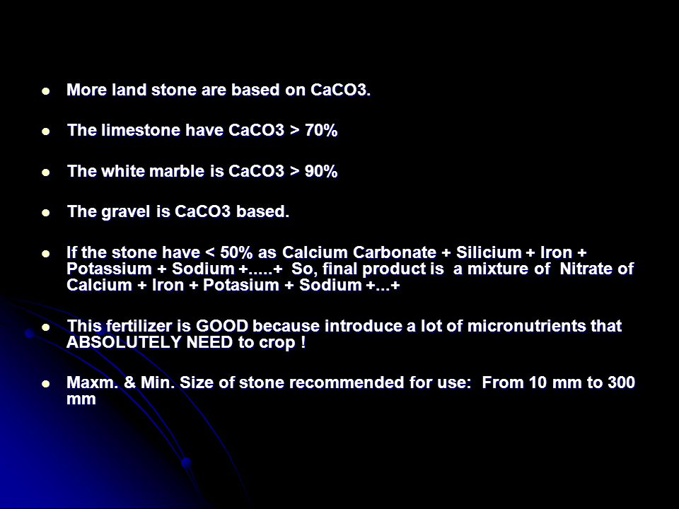 More land stone are based on CaCO3.