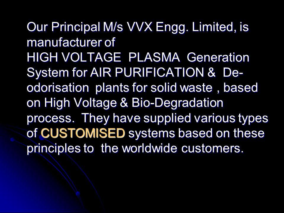 Our Principal M/s VVX Engg