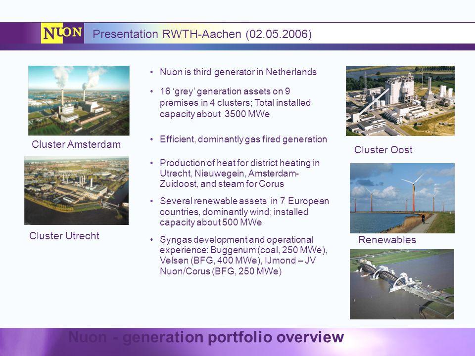 Nuon - generation portfolio overview