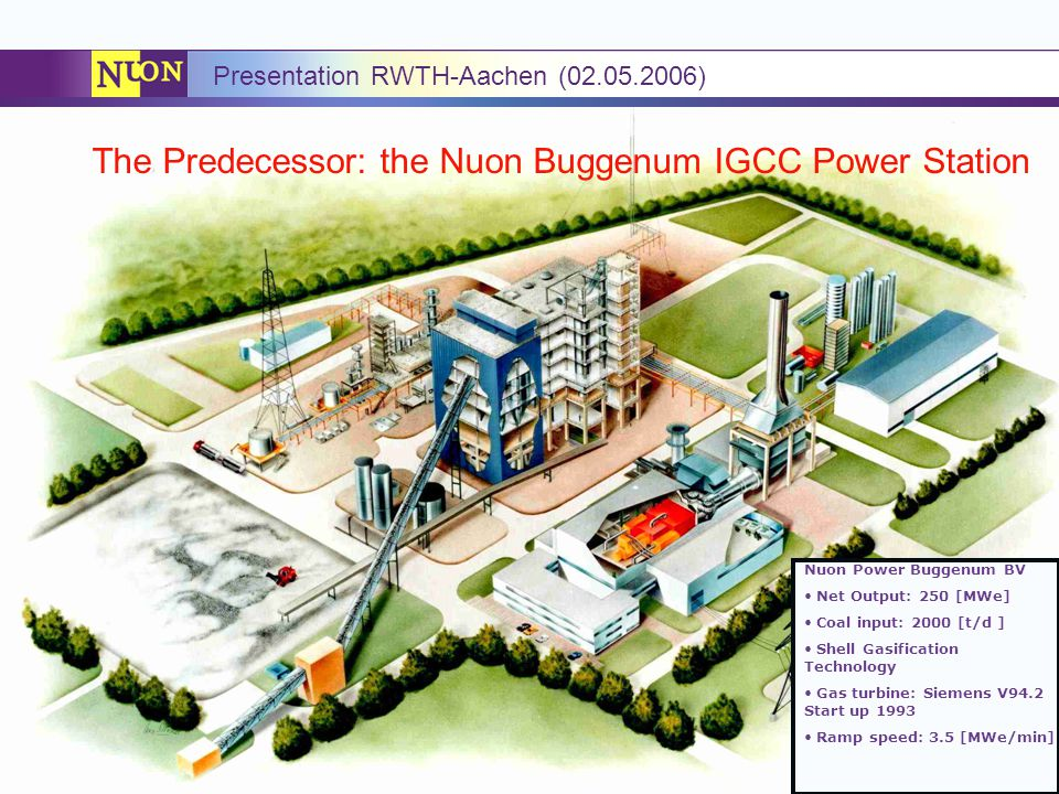 The Predecessor: the Nuon Buggenum IGCC Power Station