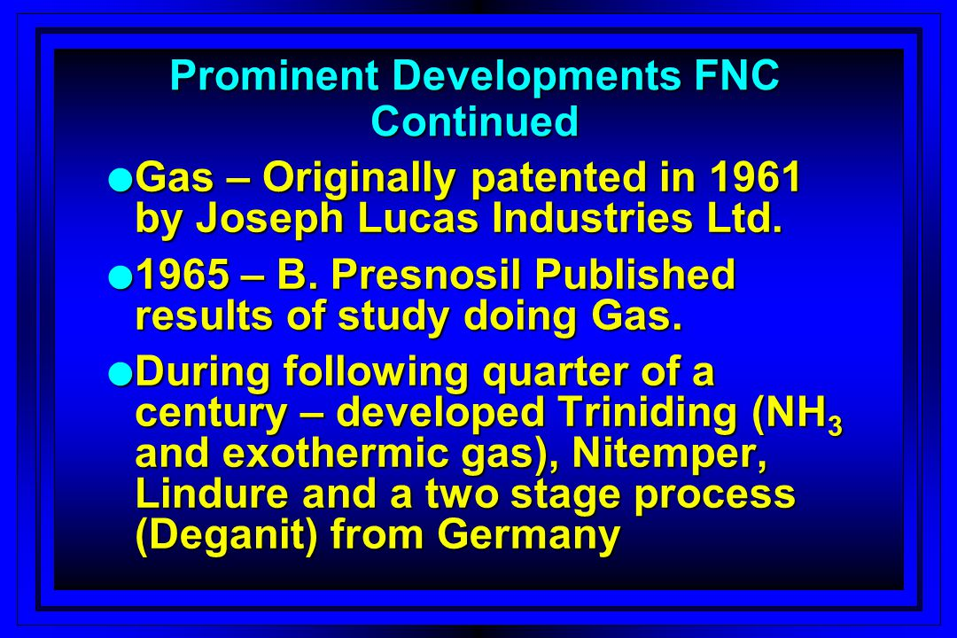 Prominent Developments FNC Continued
