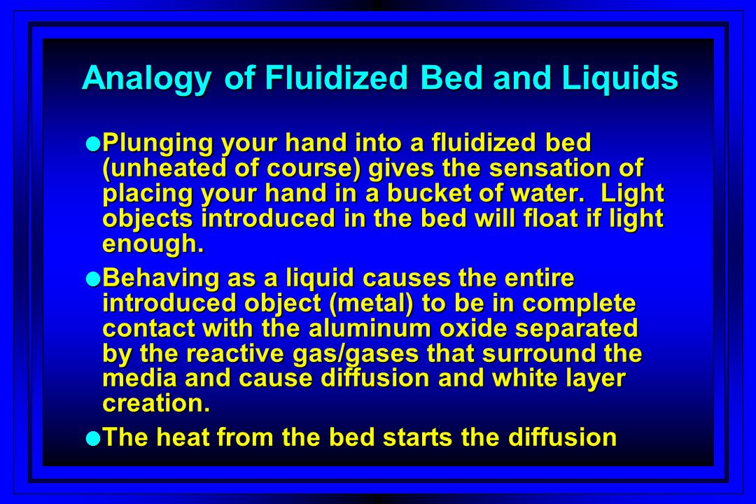 Analogy of Fluidized Bed and Liquids