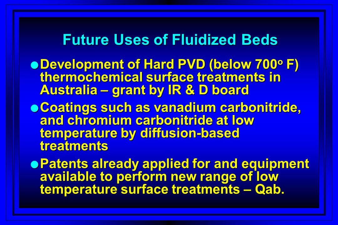 Future Uses of Fluidized Beds