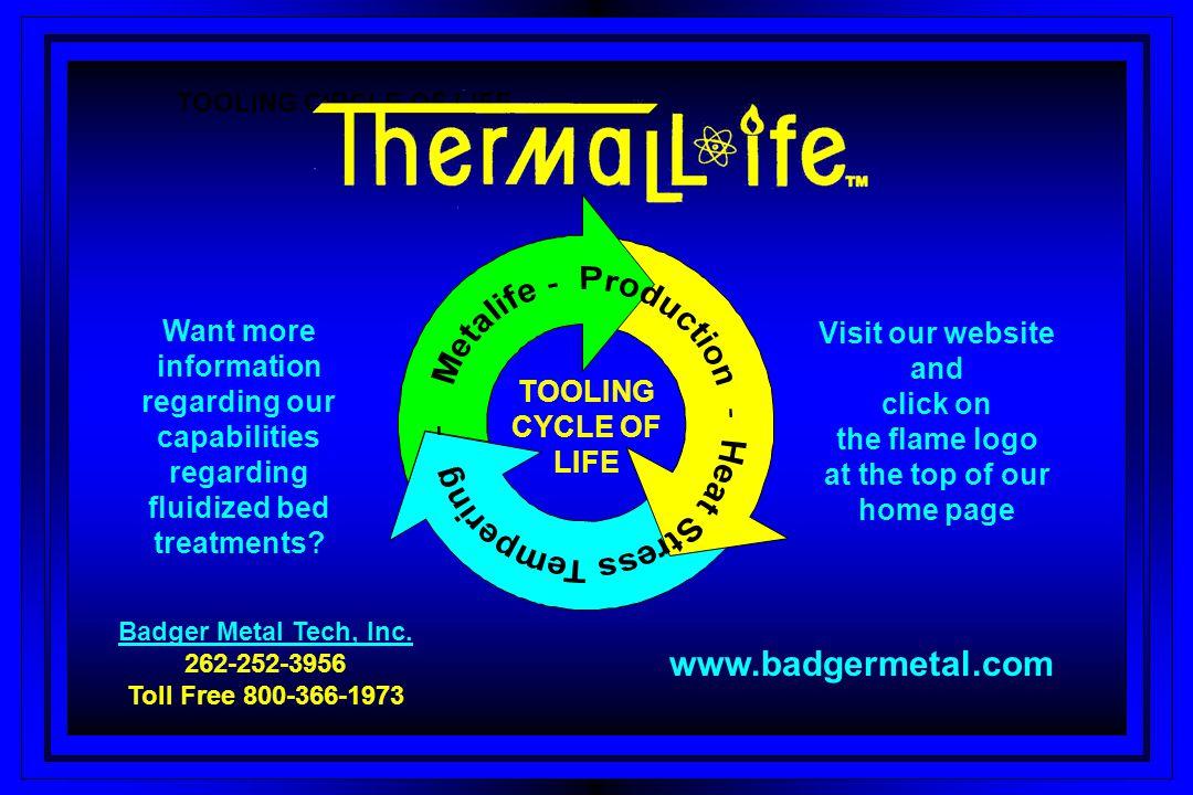 Badger Metal Tech, Inc. 262-252-3956 Toll Free 800-366-1973