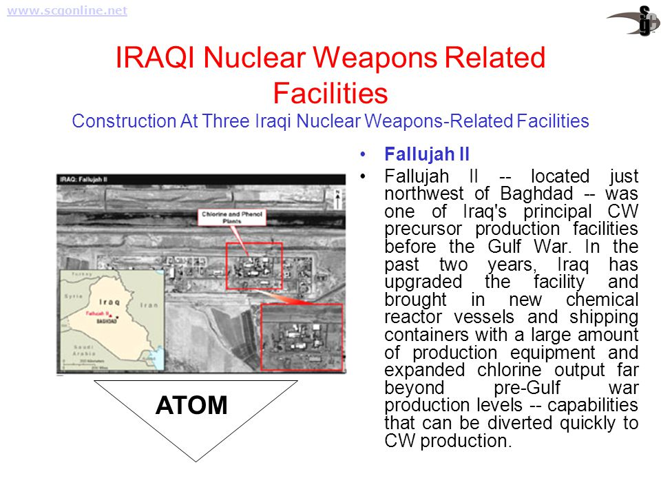 IRAQI Nuclear Weapons Related Facilities Construction At Three Iraqi Nuclear Weapons-Related Facilities.