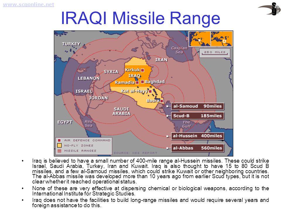 www.scgonline.net IRAQI Missile Range.