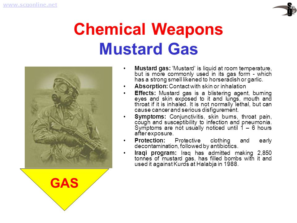 Chemical Weapons Mustard Gas