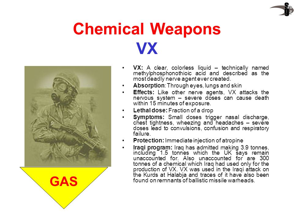 Chemical Weapons VX GAS