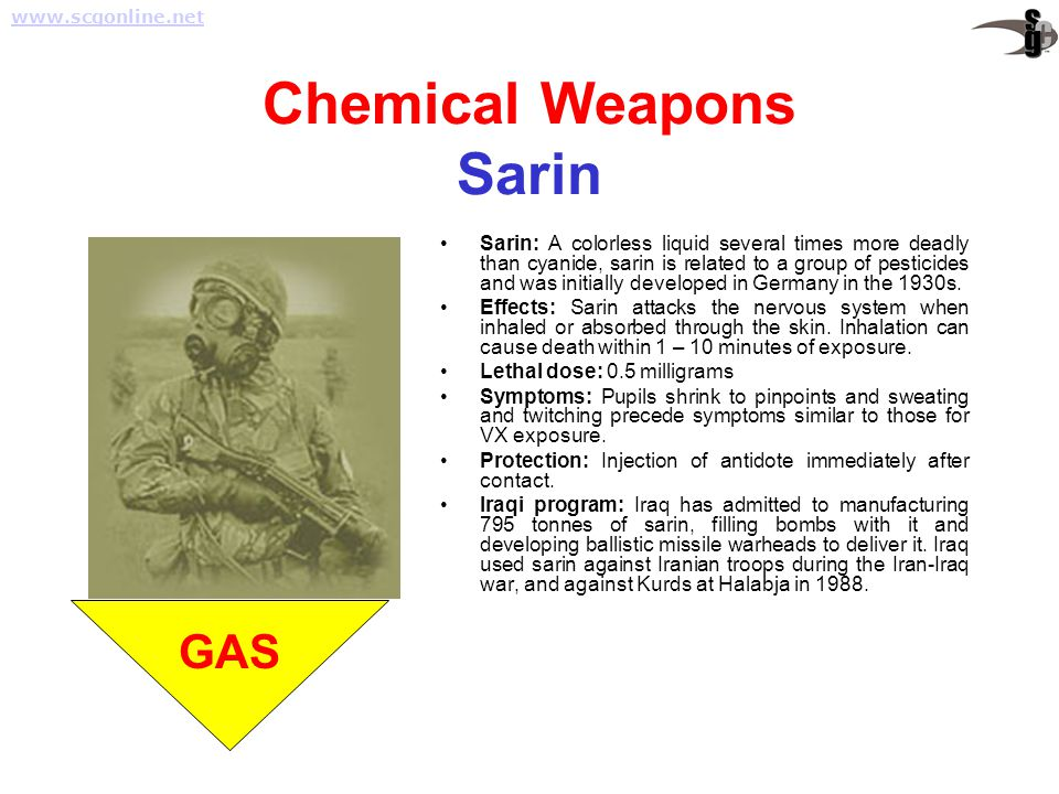 Chemical Weapons Sarin