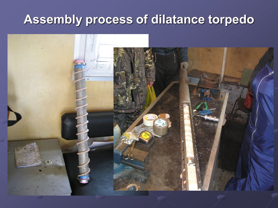 Assembly process of dilatance torpedo