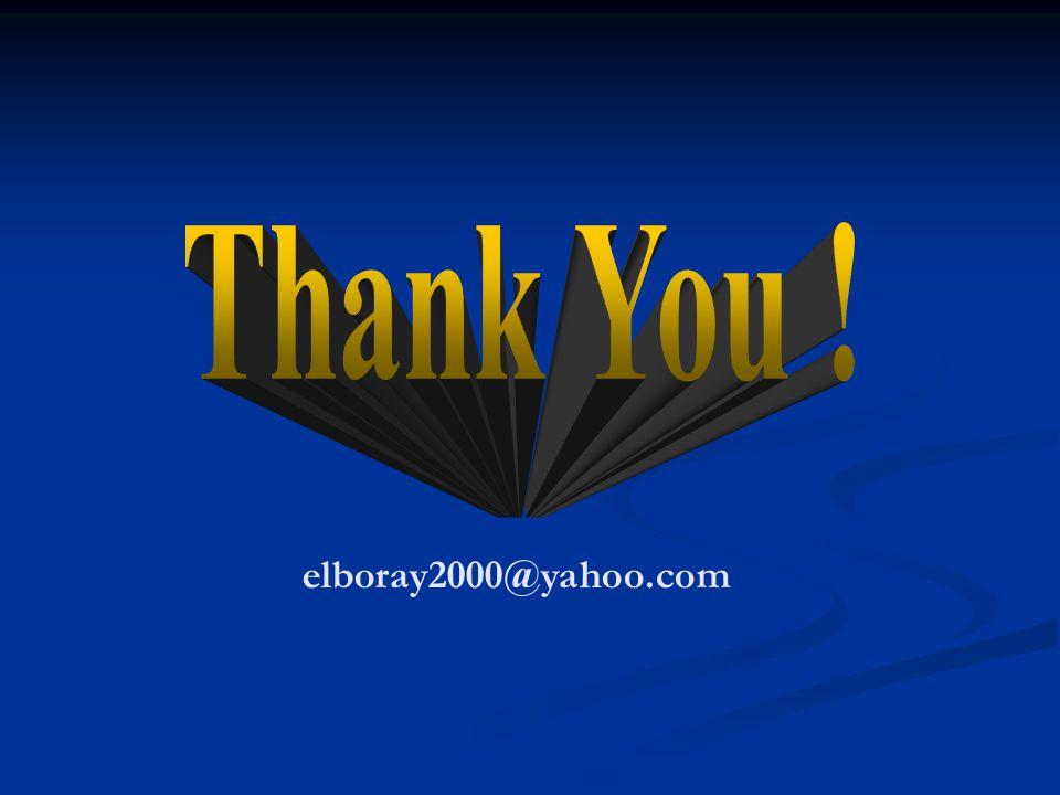 Thank You ! elboray2000@yahoo.com