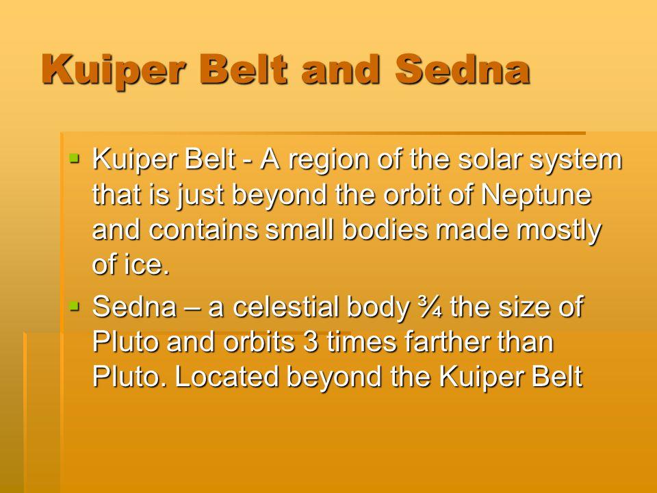 Kuiper Belt and Sedna