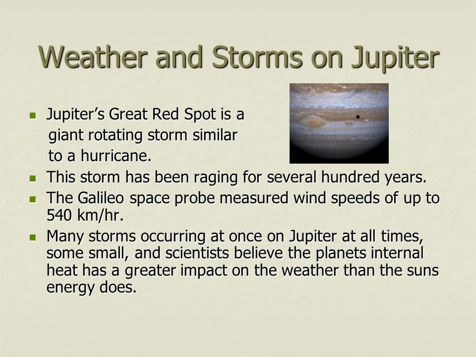 Weather and Storms on Jupiter