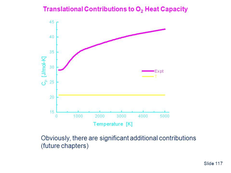 Translational Contributions to O2 Heat Capacity