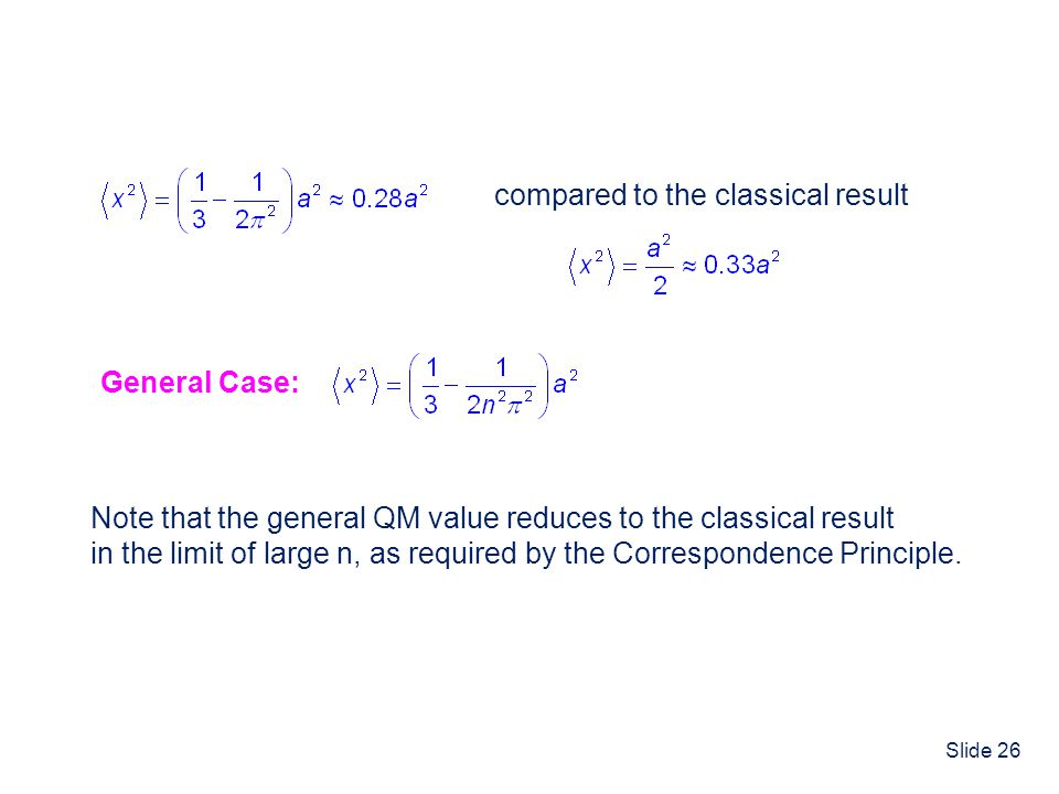compared to the classical result