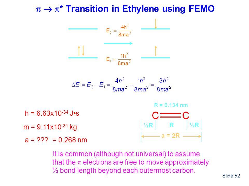   * Transition in Ethylene using FEMO