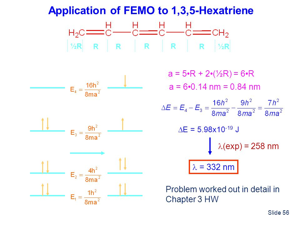 Application of FEMO to 1,3,5-Hexatriene