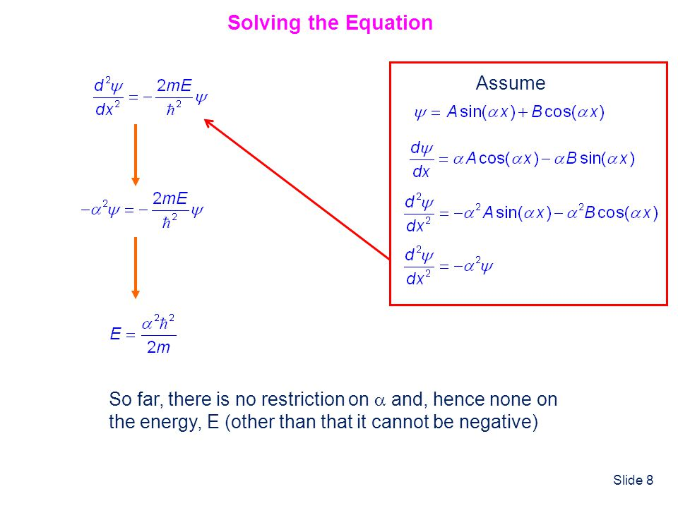 Solving the Equation Assume