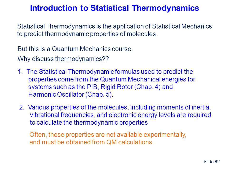 Introduction to Statistical Thermodynamics