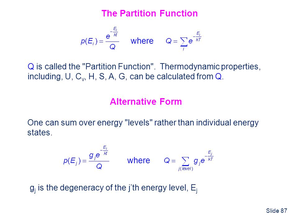 The Partition Function