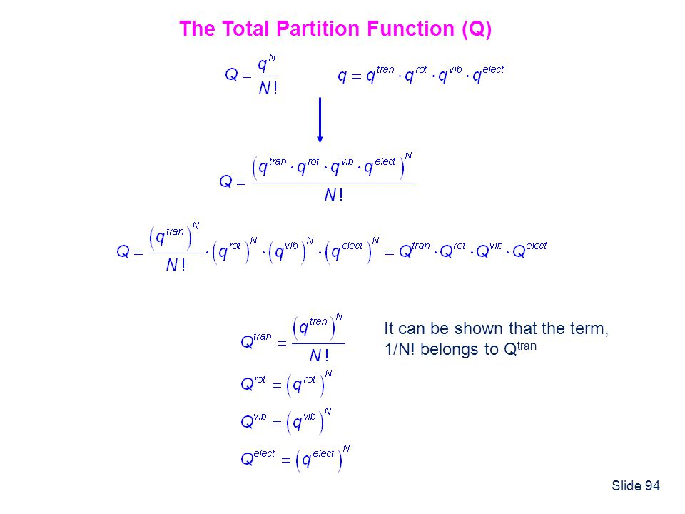 The Total Partition Function (Q)