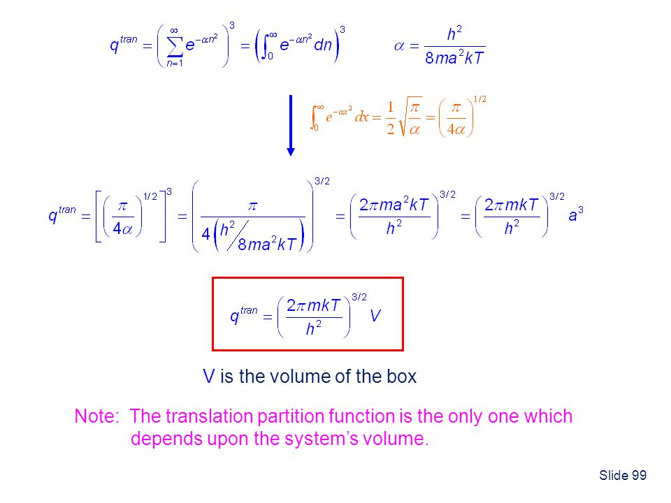 V is the volume of the box