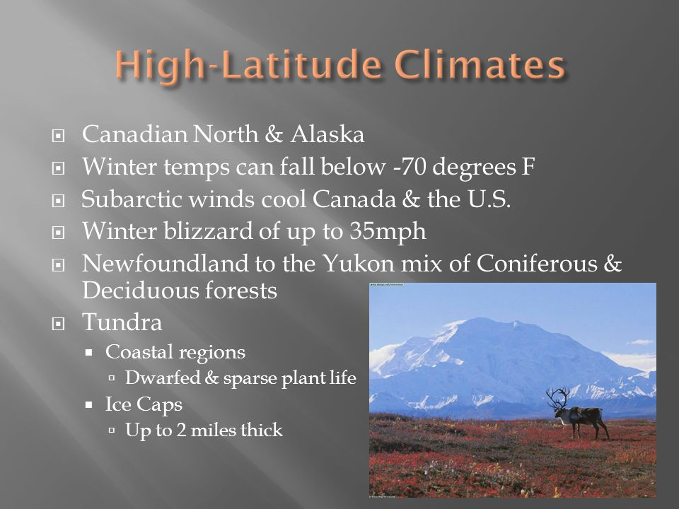 High-Latitude Climates