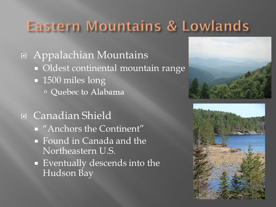 Eastern Mountains & Lowlands