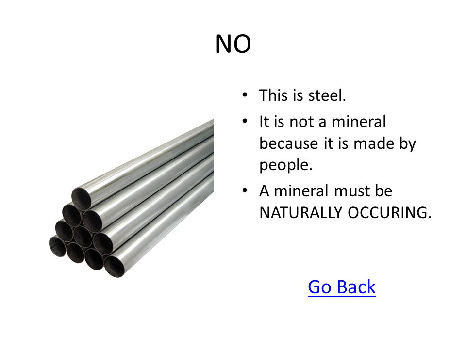 NO This is steel. It is not a mineral because it is made by people. A mineral must be NATURALLY OCCURING.