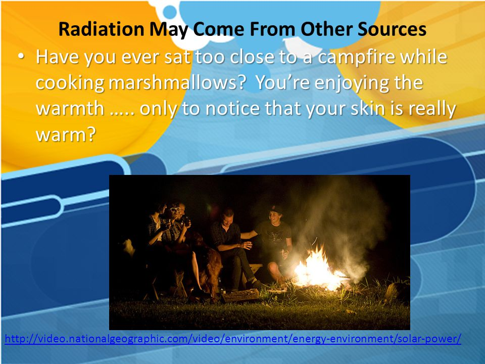 Radiation May Come From Other Sources