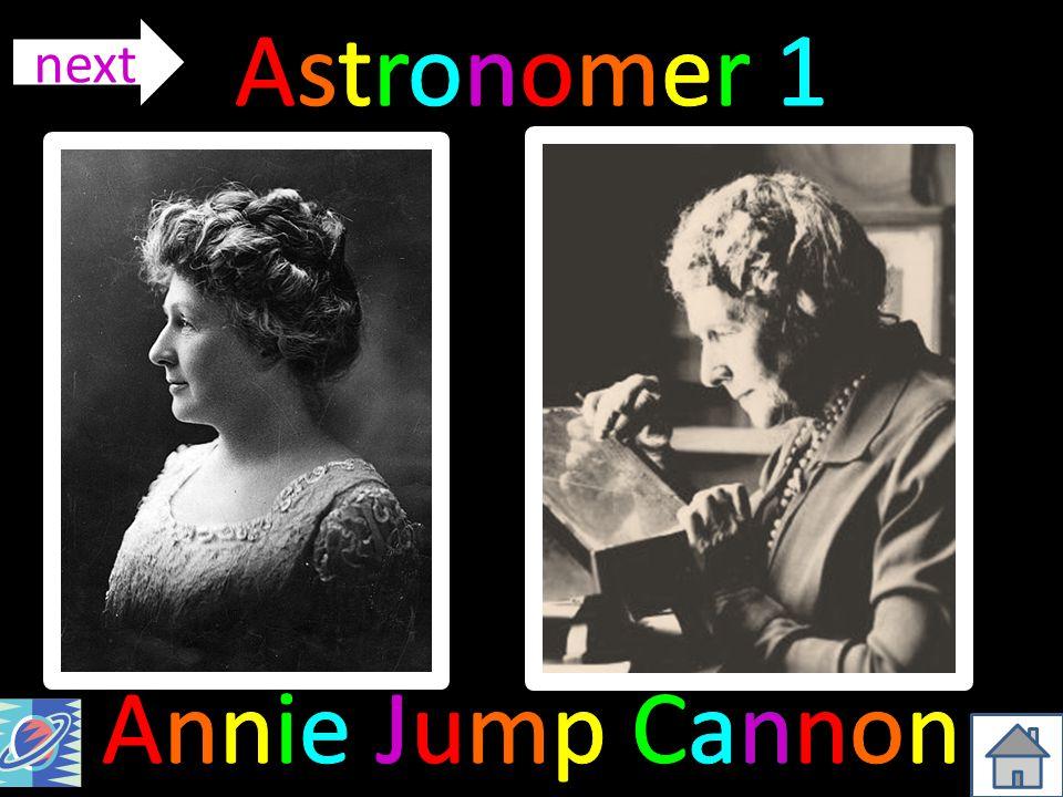 Astronomer 1 next Annie Jump Cannon