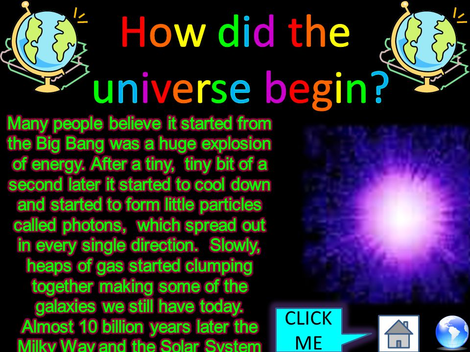 How did the universe begin