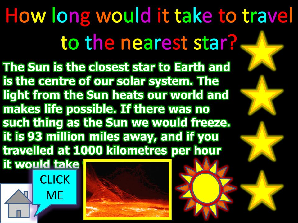 How long would it take to travel to the nearest star