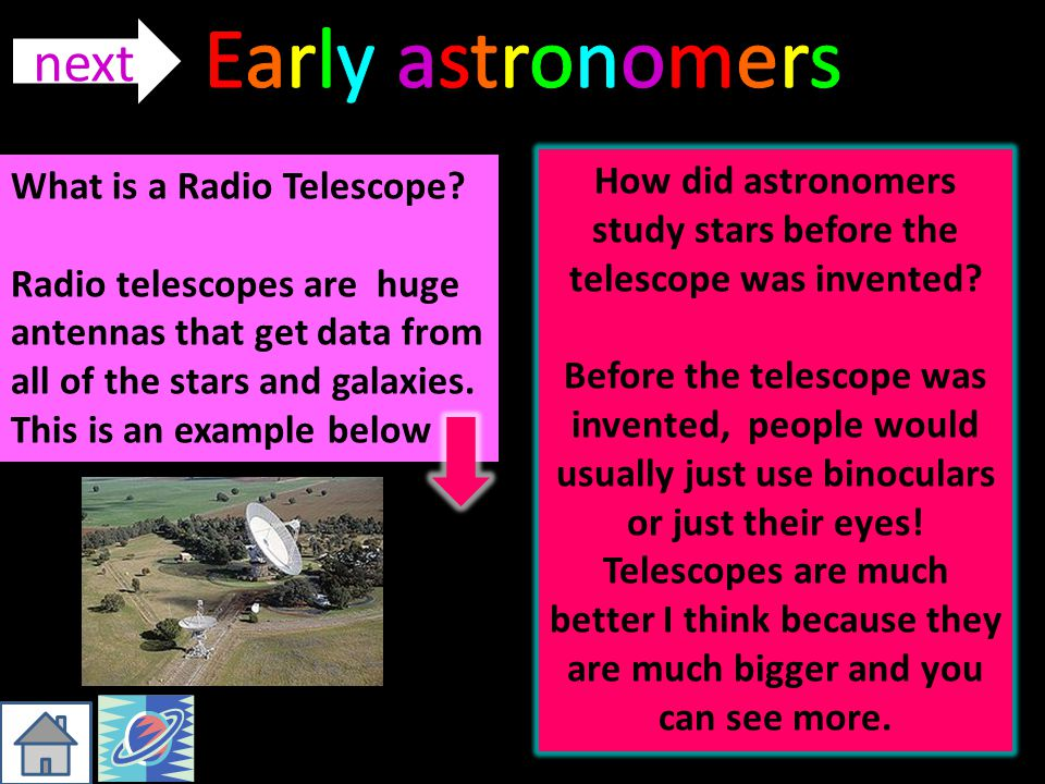 How did astronomers study stars before the telescope was invented