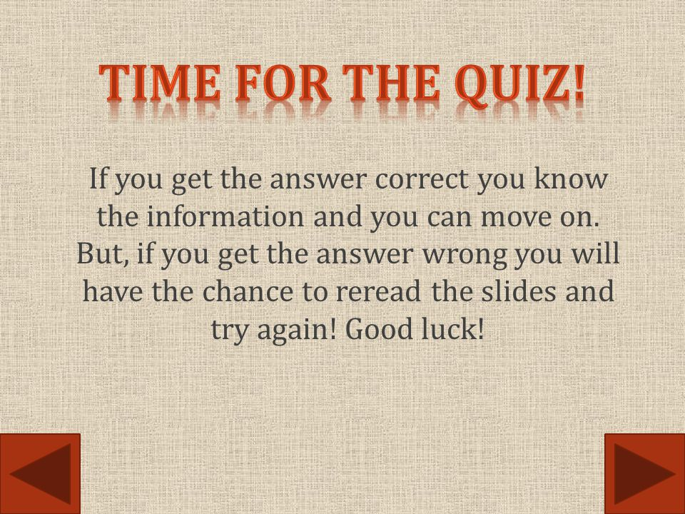 Time for the quiz!