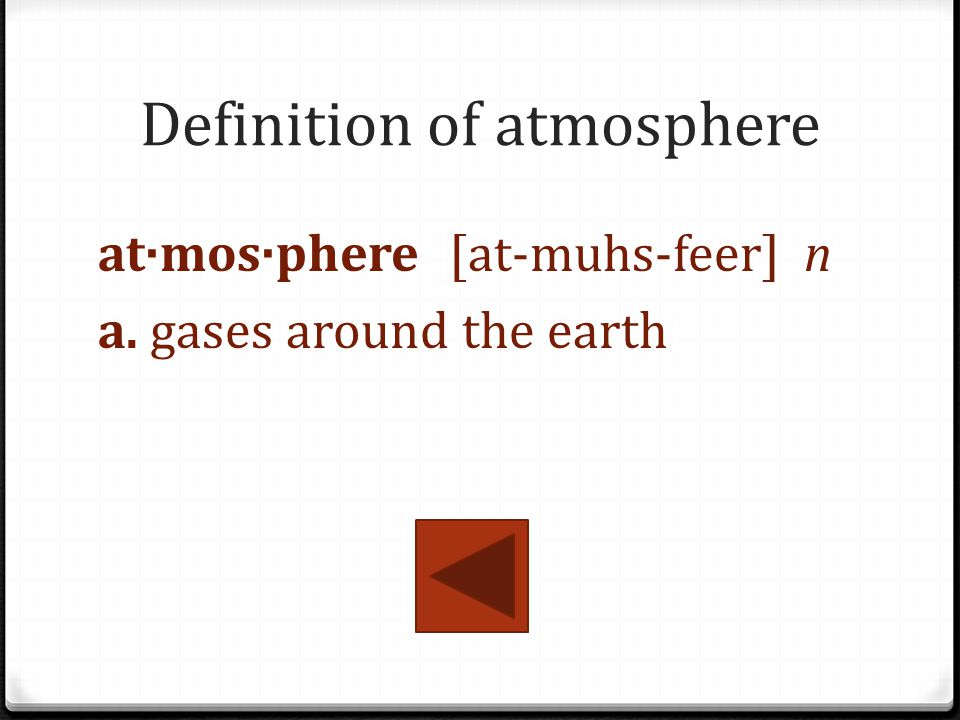Definition of atmosphere