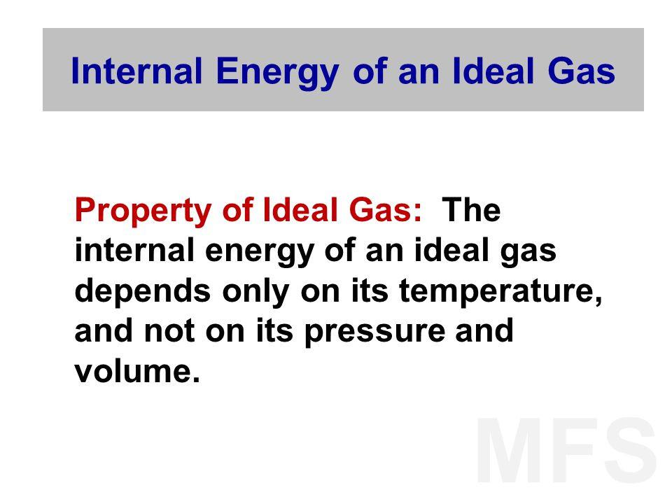Internal Energy of an Ideal Gas