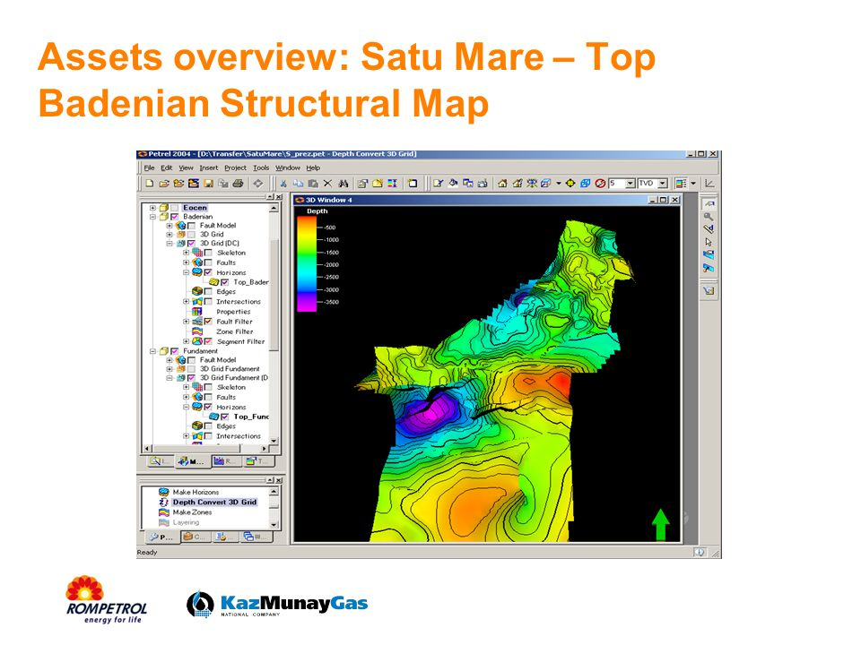 Assets overview: Satu Mare – Top Badenian Structural Map