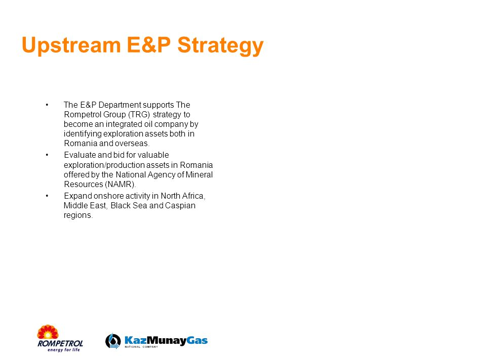 Upstream E&P Strategy